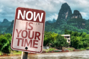 57715703 - now is your time sign with wetland background